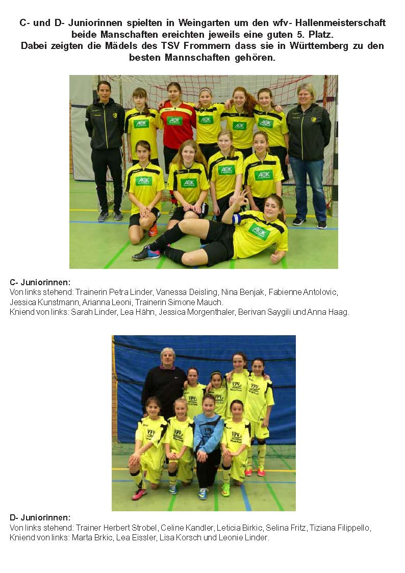 D_C Juniorinnen wfv_